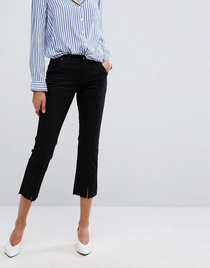 Evidnt EVIDNT – Kurz geschnittene Jeans mit Schlitz