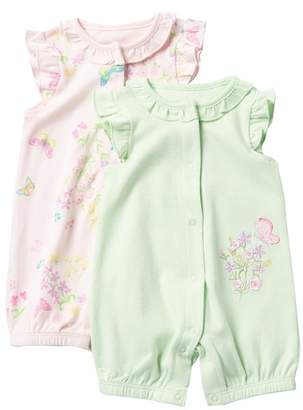 Little Me Botanical Romper - Set of 2 (Baby Girls)