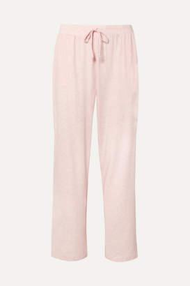 Melange Home Skin - Ophia Pima Cotton-jersey Pajama Pants - Pastel pink