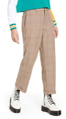 Dickies Plaid Straight Leg Crop Work Pants