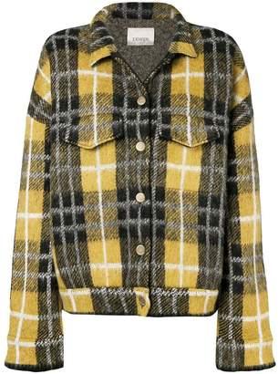 Laneus check print buttoned jacket
