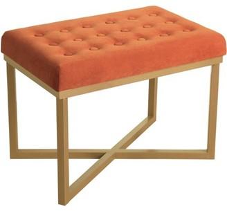 HomePop Metal Bench Velvet Seat, Multiple Colors