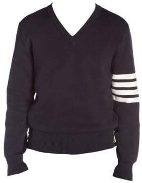 Thom Browne V-Neck Striped Pullover Sweater