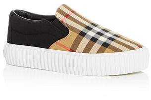 Burberry Unisex Erwin Vintage Check Slip-On Platform Sneakers - Toddler, Little Kid