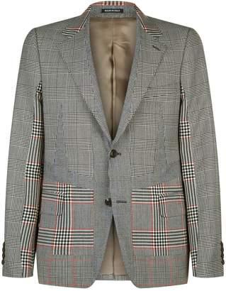 Alexander McQueen Houndstooth Panel Jacket