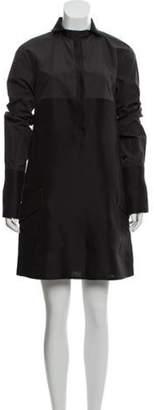 Bottega Veneta Long Sleeve Mini Dress Black Long Sleeve Mini Dress
