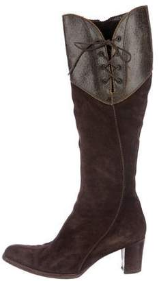 Henry Beguelin Suede Knee-High Boots