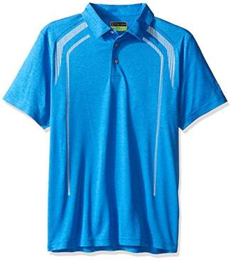 PGA TOUR Men's Short Sleeve Pro Series Luminous Skeletal Heather Polo
