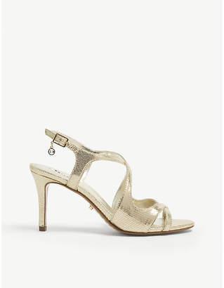 Dune Maribelle metallic heeled sandals