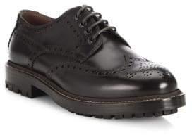 Brunello Cucinelli Lace-Up Wingtip Leather Oxfords