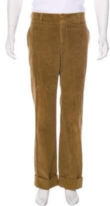 Dolce & Gabbana Corduroy Flat Front Pants