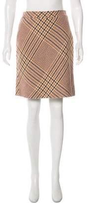 Tory Burch Tweed Plaid Skirt