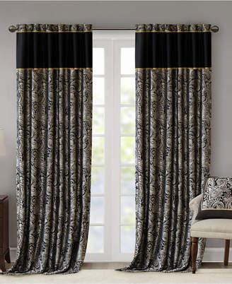 "Madison Home USA Aubrey 50"" x 108"" Paisley Jacquard Faux-Silk Rod Pocket/Back Tab Curtain Panel Pair"