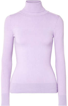 JoosTricot - Stretch Cotton-blend Turtleneck Sweater - Lavender