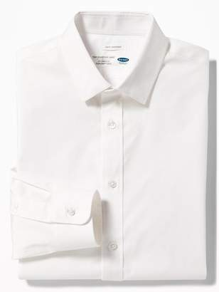 Old Navy Slim-Fit Built-In Flex Signature Non-Iron Shirt for Men