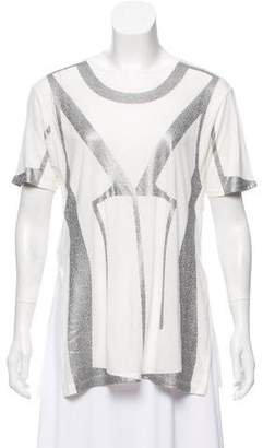 Herve Leger Printed Short Sleeve T-Shirt
