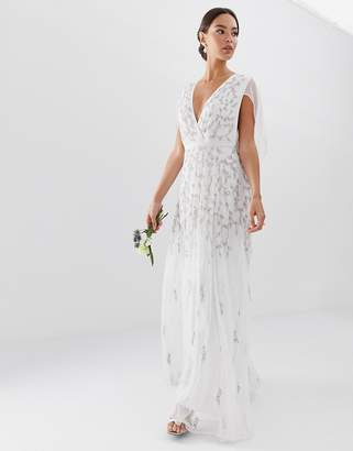 Asos Edition EDITION embellished cape wedding dress