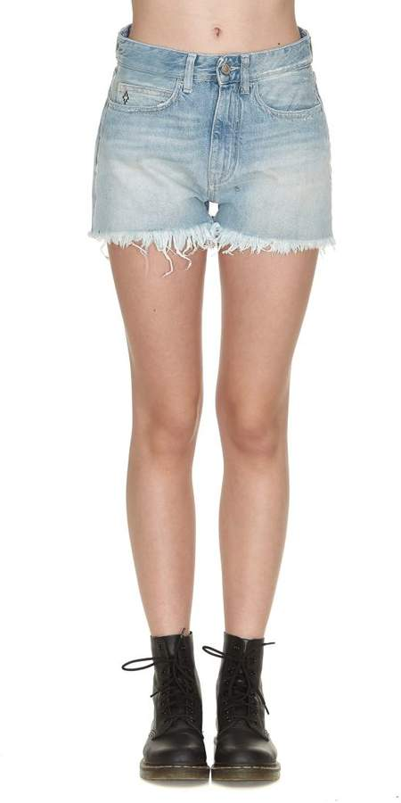 Flower Vintage Denim Shorts