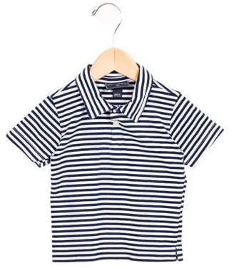 Oscar de la Renta Girls' Striped Polo Top