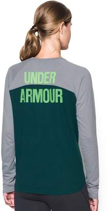 Under Armour Women's' Tri-Blend Long Sleeve Graphic Tee