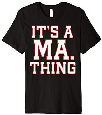 It's A Massachusetts Thing Red Outline Premium T-Shirt