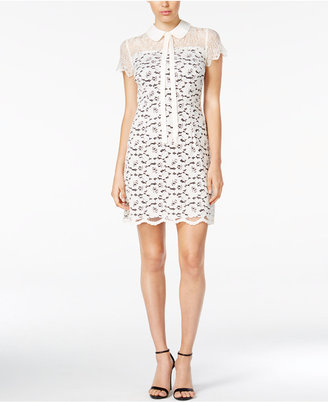 kensie Lace Illusion Collared Shift Dress $99 thestylecure.com