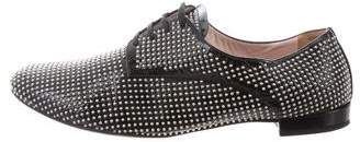 Miu Miu Patent Leather Studded Oxfords