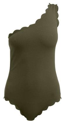 Marysia Swim Santa Barbara Scallop Edged Swimsuit - Womens - Khaki