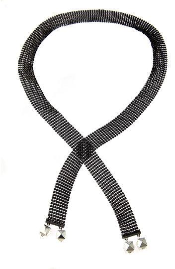 Dereon Disco Mesh Lariat Necklace