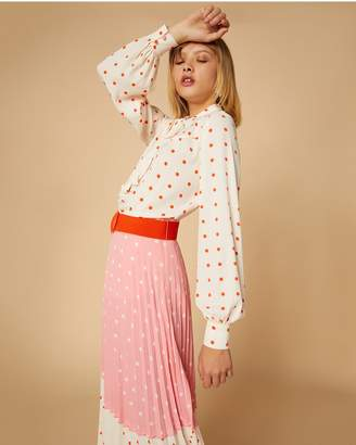 Juicy Couture Polka Dot Blouse