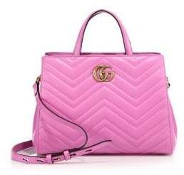 Gucci GG Marmont Matelasse Leather Top-Handle Tote