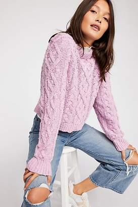 Aran Isle Cable Crew Pullover Sweater