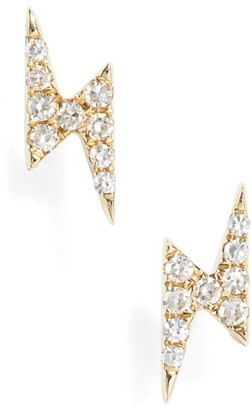 Women's Ef Collection Diamond Stud Earrings $295 thestylecure.com