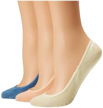Sperry Micro Liner 3-Pack Women's Crew Cut Socks Shoes
