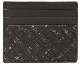 Bottega Veneta - Paint Splatter Intrecciato Leather Cardholder - Mens - Black Multi