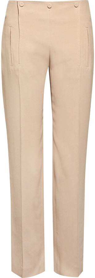 Alexander McQueen Cropped crepe sailor pants