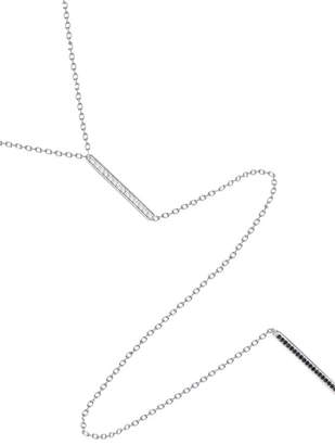 Jaime Nicole Silver Double-Bar Necklace