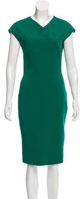 Victoria Beckham Short Sleeve Midi Dress