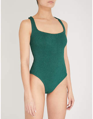 Hunza G Cutout crinkled swimsuit