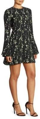 A.L.C. Trixie Printed Silk Mini Dress