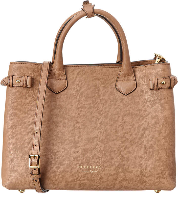 Burberry Banner Medium House Check & Leather Tote