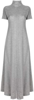 Maison Margiela belt-wrap long flared dress
