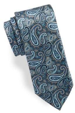 Black & Brown Black Brown Paisley Silk Tie