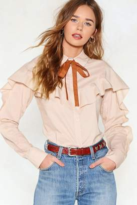 Nasty Gal Bow Way Pussybow Shirt