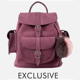 Grafea MyBag x Exclusive Women's Hari Nubuck Backpack - Burgundy