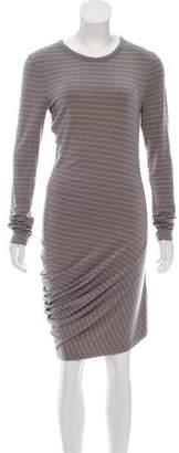 Alexander Wang Striped Casual Midi Dress