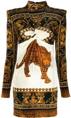 Versace tiger print dress