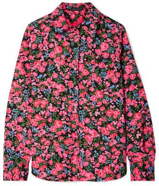Marc Jacobs Floral-print Crepe De Chine Shirt - Pink