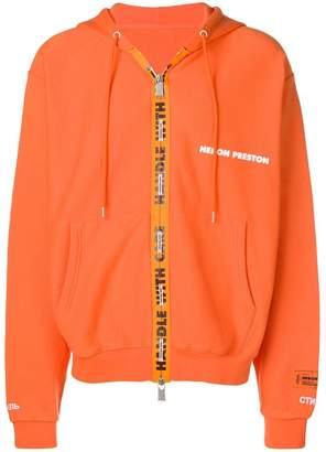 Heron Preston zip front logo hoodie