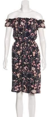 Mother of Pearl Floral Off-The-Shoulder Dress